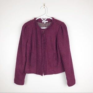 CAbi Britt Boucle Jacket Wool Zip Front #530